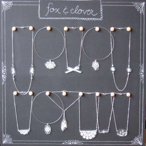 fox & clover necklaces at vain salon
