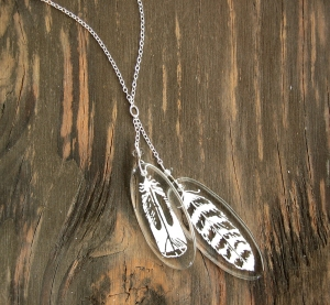 Two-Feathers Necklace